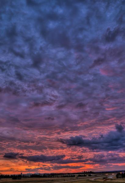 Sunset Over 82 & Camera Phone Photo