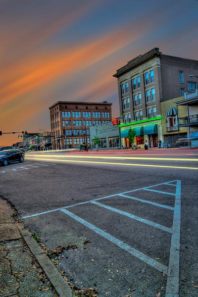 Main Street Light Trails