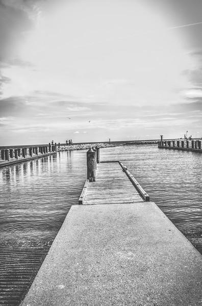 Black and White Pier - Waveland