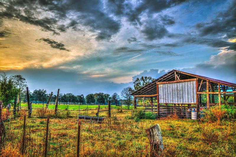 Farm at Sunset - Pheba