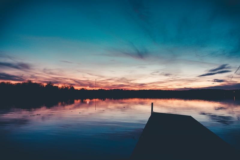 Sunset on Columbus Lake