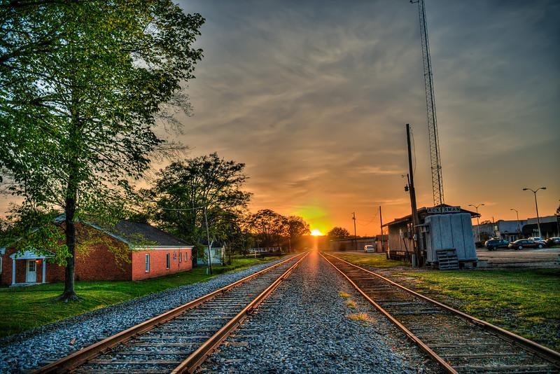 Tracks at Sunset - Ackerman