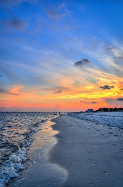 Biloxi Beach at Sunset