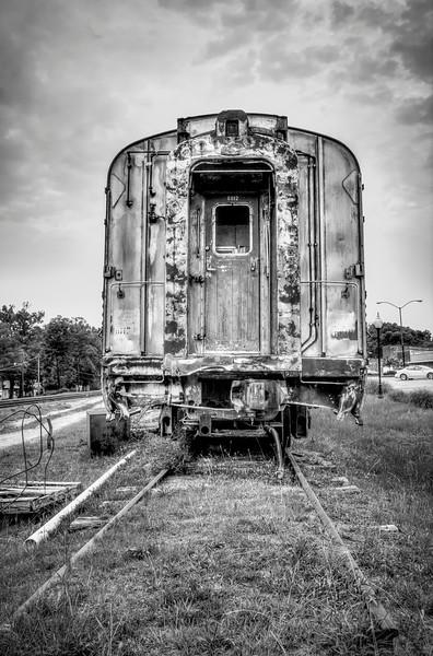 Black and White Train - Winona