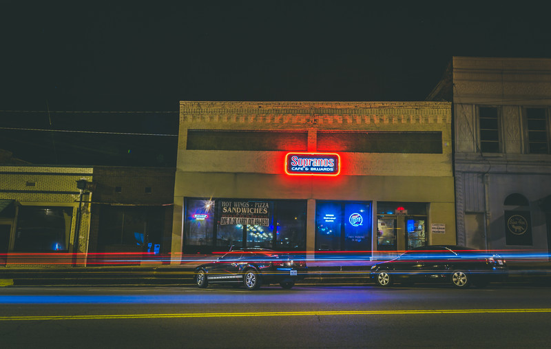 Small Town Light Trails